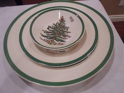 Spode Christmas Tree 3 Plates + 2 Fruit/dessert Bowls Exclnt Condtn-Low Shipng!