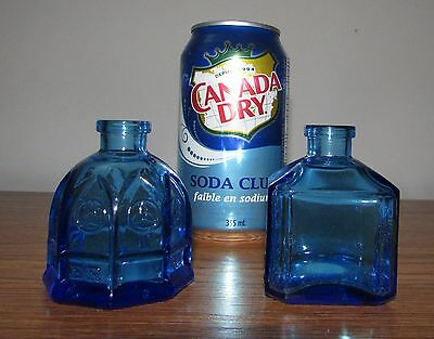 2 Blue Wheaton Daniel Webster Recorder Ink Eagle Carter Cathedral Church Bottle