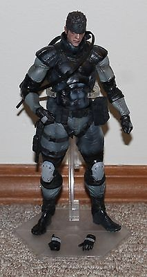 Play Arts Kai Metal Gear Solid Solid Snake Figure Used Good Condition