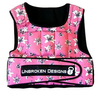 Deep Pink Lily 20 lbs Weight Vest Unbroken Designs Crossfit Fitness WOD