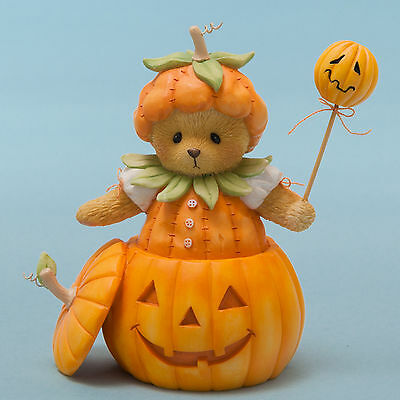 Cherished Teddies*BEAR DRESSED as PRETTIEST PUMPKIN in PATCH*New*Fall*4047367