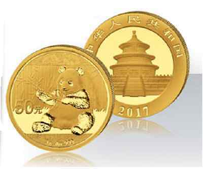 CHINE Panda 50 Yuan Or 3 Grammes 2017 - 3 Gr Gold China Panda