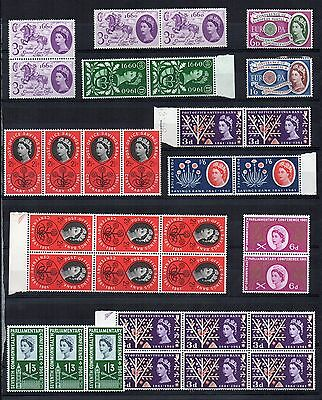 GB QEII COMMEMORATIVE Stamp Collection EARLY 1960s Inc BLOCKS Ref:QD314