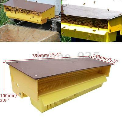 Yellow Convenient Plastic Pollen Trap Collector with Removable Tray Entrance Kit