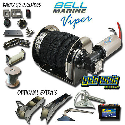VIPER PRO SERIES 2 1000W Anchor Winch 10m chain 75m Rope (Not Micro)