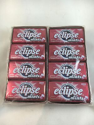 16x 50pcs Eclipse Mint Berry Fruit Red Metal Tin Box Wrigley's Sugarfree Wrigley