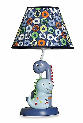 Bananafish Little Dino Table Lamp, Blue