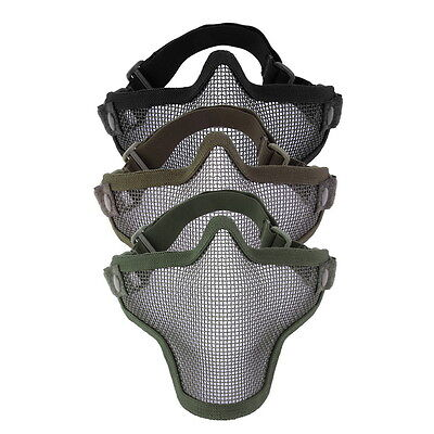 Steel Mesh Half Face Mask Guard Protect For Paintball Airsoft Game Hunting ZV