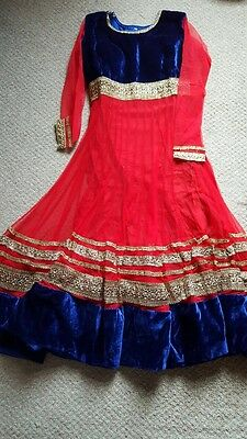 Designer Bollywood Indian Wedding Eid Mendhi Party Lengha Anarkali Dress