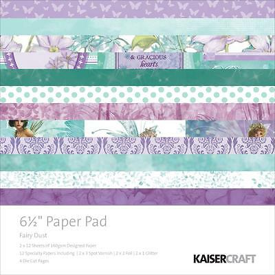 """Kaisercraft Fairy Dust 6.5""""x6.5"""" Specialty Paper Pad PP983 40 Sheets"""