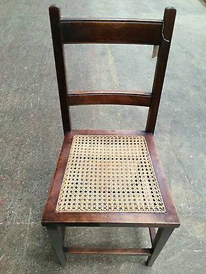 Wooden Occasional Chair with Cane Seat