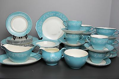 Large RETRO Midwinter Stylecraft DINNER SET / SERVICE for 6. Staffordshire. 1960