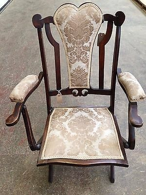 Antique Chair (Campaign Folding Upholstered)