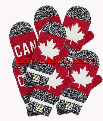 "Team Canada 2016 Winter Olympic Red Mittens - Size ""S/M, L/XL  FREE Shipping USA"