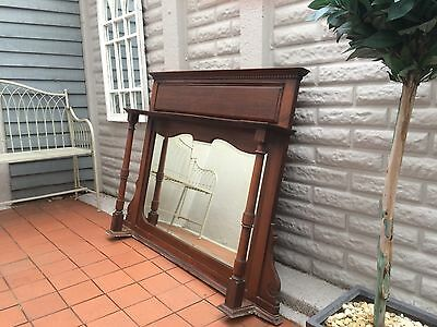 Edwardian/Victorian Over mantle Mirror Vintage/shabby chic
