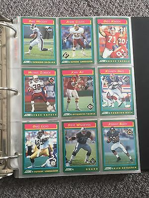 NFL Team Score '92 Trading Cards. Set of 9.