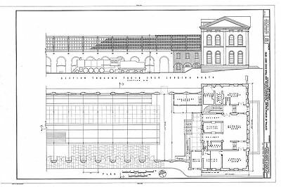Savannah, Georgia, Central Railway station/shed architecture drawings large set