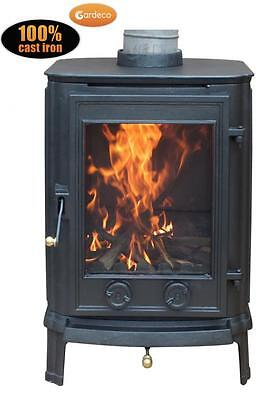 GARDECO CRADLEY 8.6KW Multi Fuel Stove  - Fully CE Approved, Wood Burner, Fire