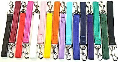 "10"" Short Close Control Training Dog Lead,Leash,25mm Cushion Webbing 16 Colours"