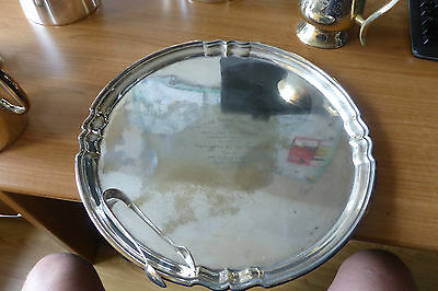Silver plated tray, Finningans Ltd: 1930; White City Greyhound Racing