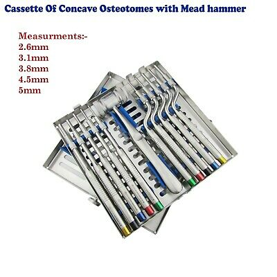 Dental Implantation Osteotomes Sinus Offset Handle Concave Tip With Free Mallet