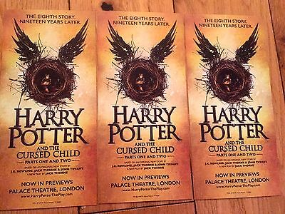 Harry Potter And The Cursed Child Parts 1+2 Promo Theatre Flyers X 3