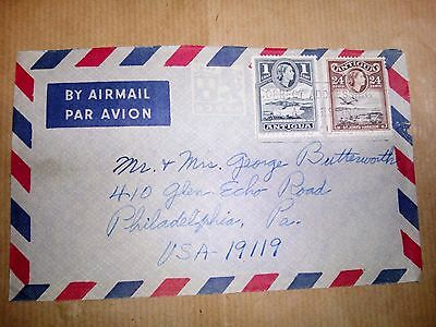 Antigua Stamps & Cover Air Mail To Philadelphia U.s.a.