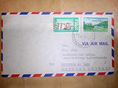 Samoa 13.7.1963 Stamps & Cover Via Air Mail To Western Germany