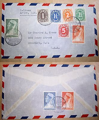Curacao Aruba 15.11.1939 Stamps & Cover To U.s.a.