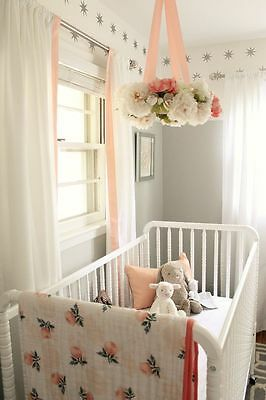 Beautiful Hanging Shabby Chic Flower Baby Mobile Chandelier