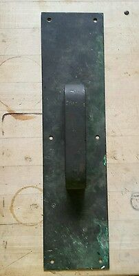 Vintage Solid Heavy Duty Brass Industrial Door Pull  16""