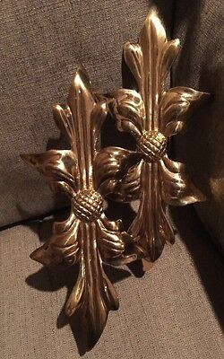 Vintage  2 Heavy Solid Brass Curtain Tie Backs