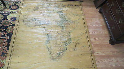 Antique Map Africa  1885  Society Christian Promotion  60 in by 51.5 inches