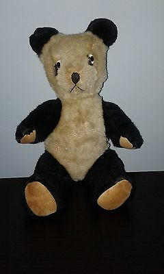 Vintage Antique 10 inch Panda Bear Fully Jointed Old