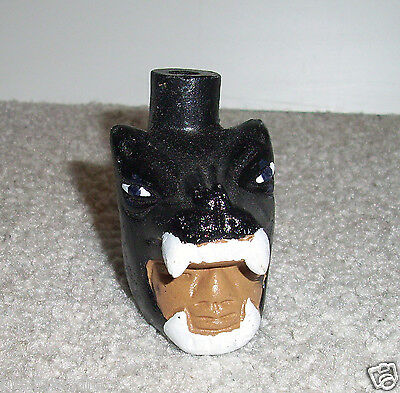 Black Whistle with the sound of Snarling of Jaguar Mexican art Handmade, clay