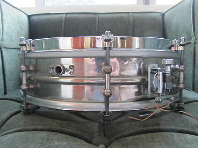 1920's LUDWIG 14x4 2 Piece BRASS Snare Drum Black Beauty shell HOLY GRAIL SOUND!