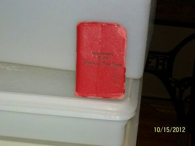 Antique Vintage  American Red Cross 1946 Address Book