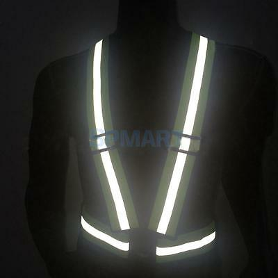 High Visibility Reflective Vest Harness Running Walking Cycling Safety Sport