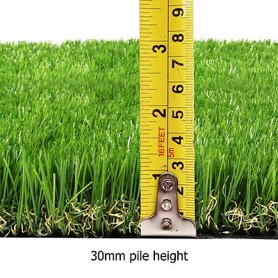 NEW 30mm Artificial Turf Flooring Synthetic Grass Lawn Green Rooftop Garden 10M