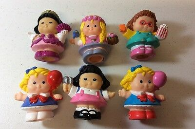 Lot Of 6 Girl 2003 Fisher Price Little People