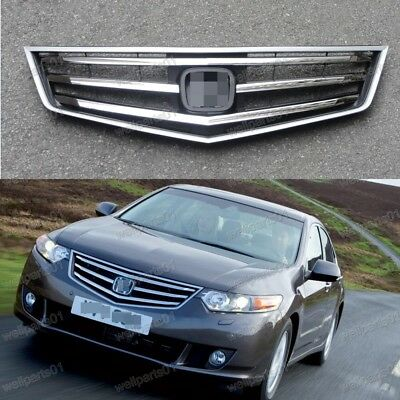1Pcs Front Bumper Upper Chrome Grille For Honda Accord 2009-2010