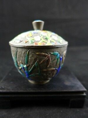 Chinese Archaistic Cloisonne Enamel Cup Jar Covered