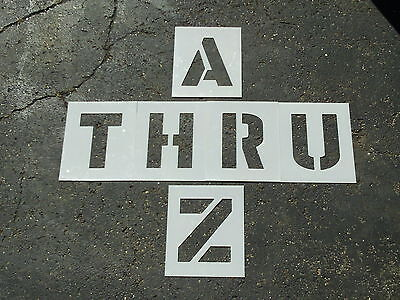 "12"" Alphabet Stencils for Parking Lot Striping Playground Games ReUsable 1/16"""