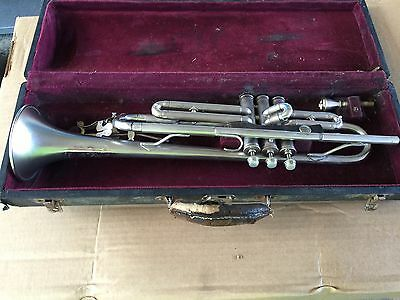 Antique Cavalier Pan American Conn Silver Trumpet, In Case w/mouthpiece, Plays