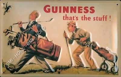"Guinness that's the stuff - Golf - old style vintage Metal Sign - 12"" x 8"" inch"