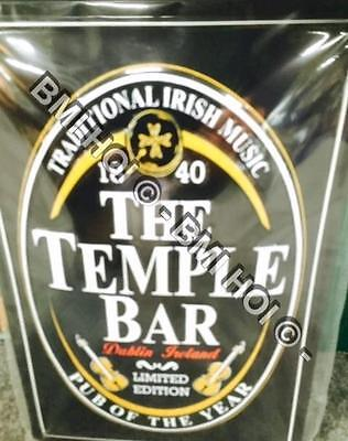 "The Temple Bar Pub  Dublin Novelty Metal sign 12"" x 8"" inches"