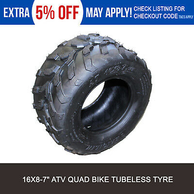 ATV Quad Bike Tyre 16x8-7 Front/Rear Tire for 70cc 110cc 125cc Buggy Go Kart 7""