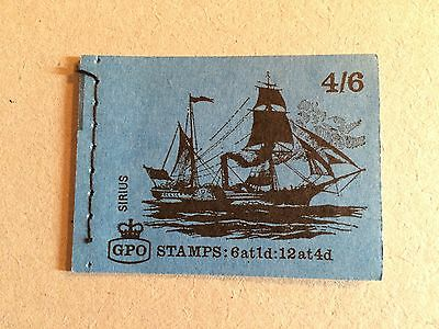 """GB 1969 LP51 4/6 Ships Series """"Sirius"""" Stitched Stamp Booklet (MAY 1969)"""