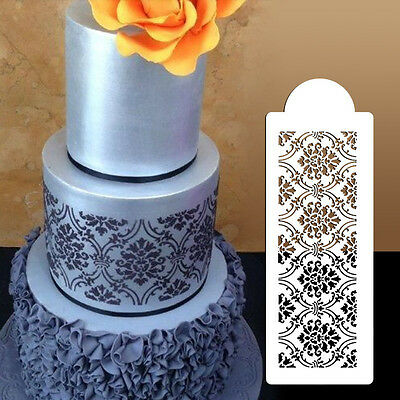 Plastic Cookie Cake Stencil Fondant Tool Decoration for Cake Wedding Flower  JR