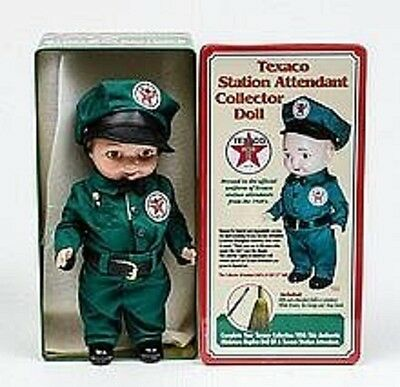 Texaco Station Attendant Collector Doll with Collector's Tin